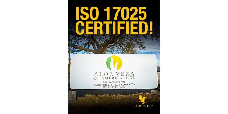 Certificare ISO 17025 Forever Living